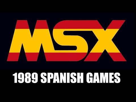 MSX GAMES 1989 SPANISH GAMES