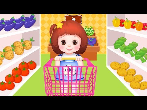 Baby Doli mart shopping and cooking play and baby doll toys play