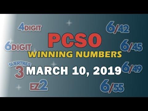 P49M Jackpot Ultra Lotto 6/58, EZ2, Suertres, Superlotto 6/49 Draw | March 10, 2019