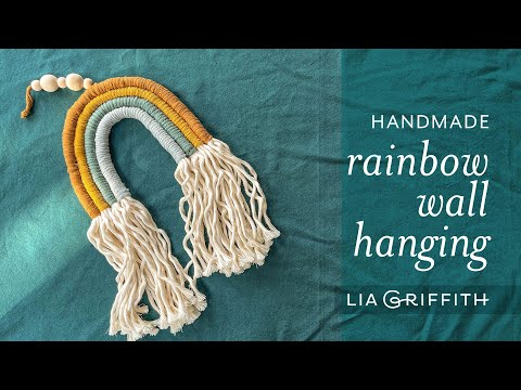 Handmade Rainbow Wall Hanging