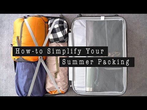 HOW-TO SIMPLIFY YOUR SUMMER PACKING LUGGAGE | ANN LE