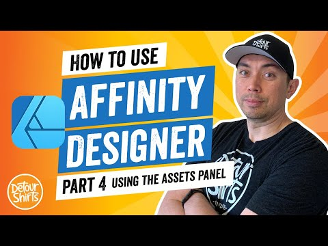 CREATE DESIGNS FASTER Using the Assets Manager Panel – Easy Step by Step Affinity Designer Tutorial.