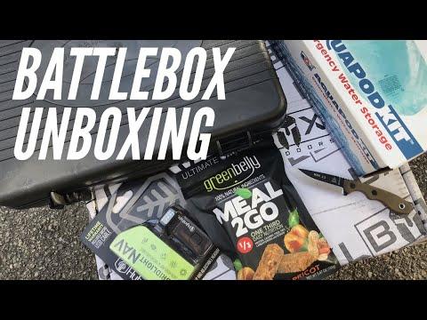 BattlBox UNBOXING: Mission 54 - TOPS MSK 2.5 Knife, HybridLight Headlamp, Meal-2-Go, Water Storage