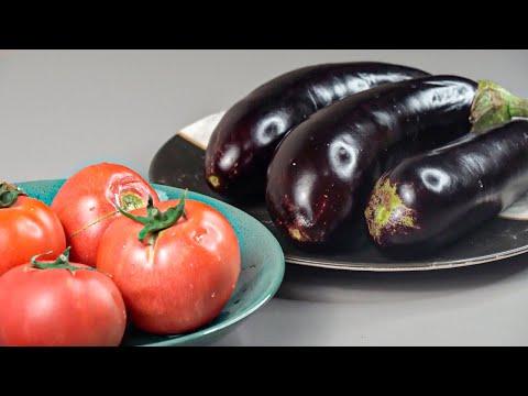 Закуска из баклажан с помидорами за 20 минут. Главное иметь сковородку