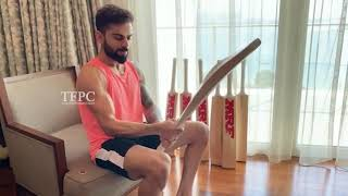 Cricketer Virat Kohli Taking Care Of His Old Bats | Latest Tollywood News | TFPC - TFPC