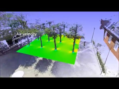 Cleaner air by 3D Scanning and Computational Fluid Dynamics