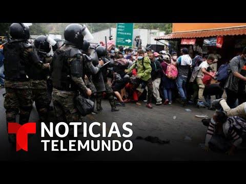 El gobierno de Guatemala bloquea a la caravana migrante y los invita a regresar a Honduras