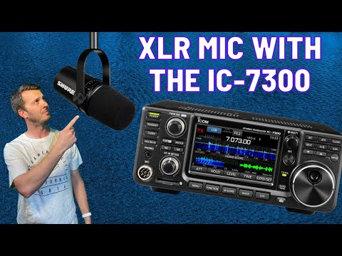 How I connect my Icom IC-7300 to an XLR Microphone