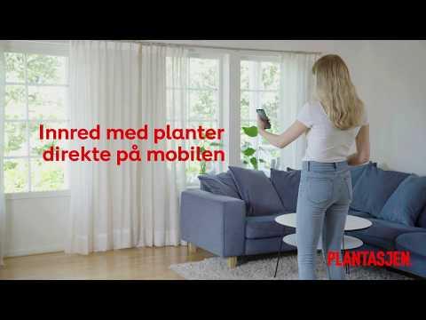 Innred med planter direkte på mobilen