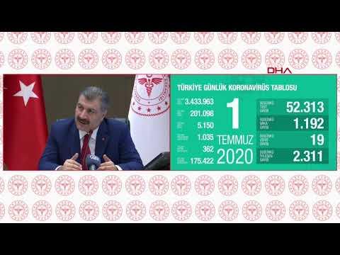 #CANLI Sağlık Bakanı Fahrettin Koca Bilim Kurulu Toplantısı'nın ardından açıklama yapıyor