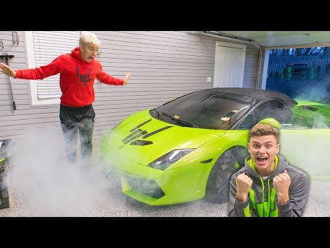 LAMBORGHINI PRANK ON BROTHER!! (GONE WRONG)