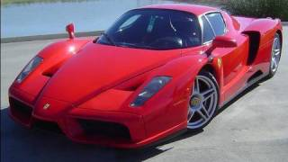 Ferrari Enzo drives in