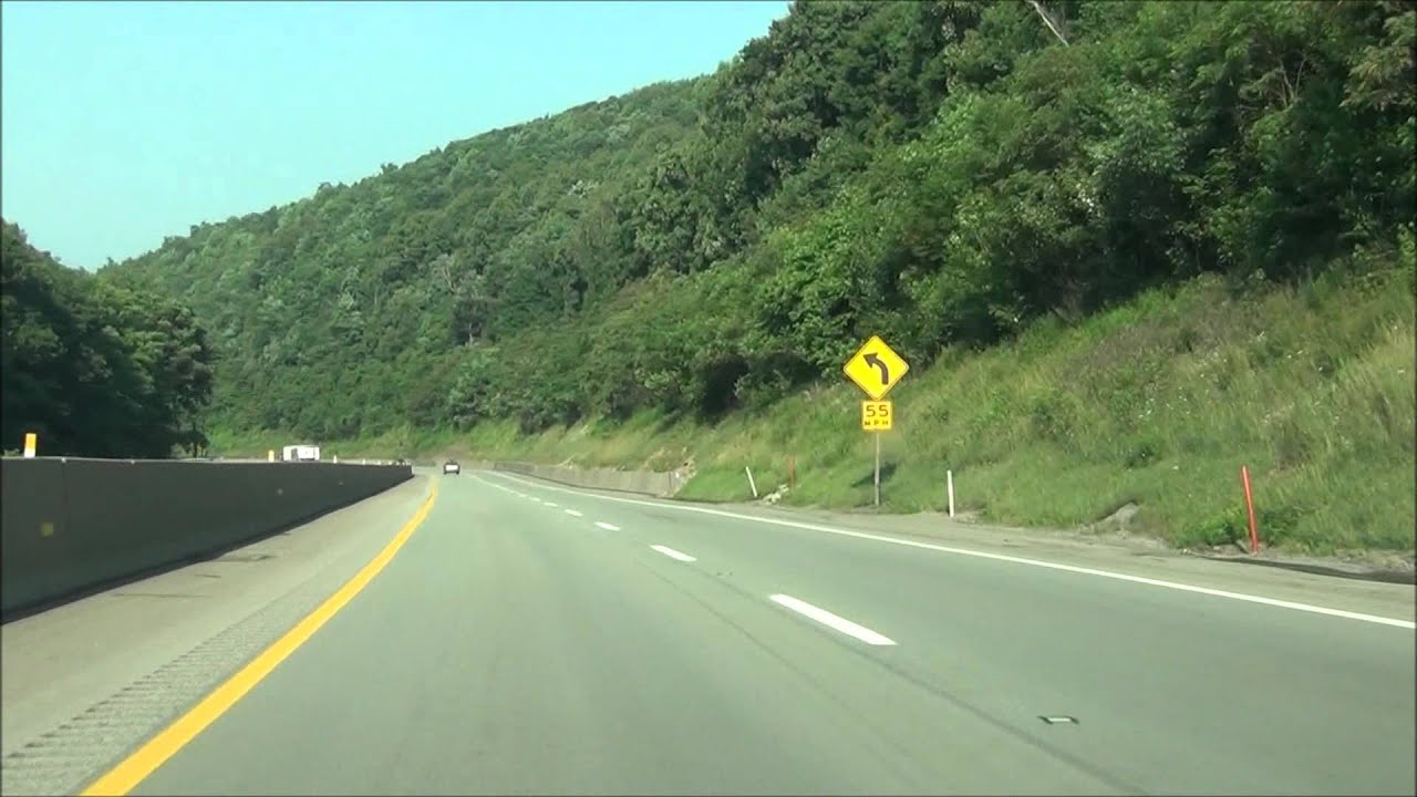 Pennsylvania - Interstate 76 West (PA Turnpike) - Mile Marker 90-80 (7/3/15)
