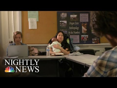 More Colleges Allowing Student-Parents To Bring Kids To Class | NBC Nightly News