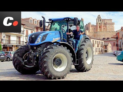 NEW HOLLAND JOB Cap. 2: Tractor T7 Heavy Duty 2017 | Prueba / Test / Review en Español | Coches.net