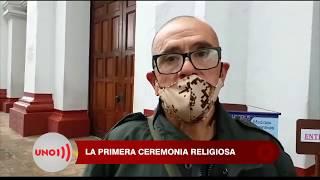 Feligreses volvieron a misa en Salamina, Caldas, que no tiene casos de covid 19