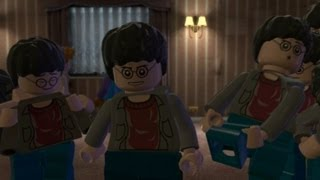 LEGO Harry Potter Years 5-7 Walkthrough Part 15 - Year 7 Deathly Hallows Part 1 - The Seven Harrys