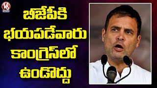 Rahul Gandhi: Congress Party Wanted Only Fearless People   V6 News - V6NEWSTELUGU