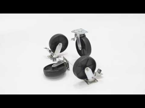 AHA-2/4 TLC Total locking casters Options for Aluminum Gantry Crane