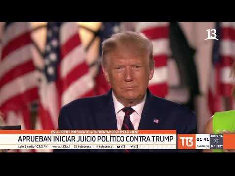 Donald Trump: aprueban iniciar segundo juicio político contra el Presidente