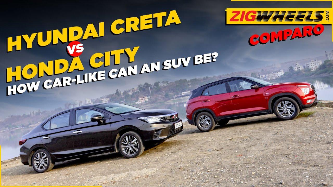 Hyundai Creta vs Honda City | Ride, Handling, Braking & Beyond | Comparison Review