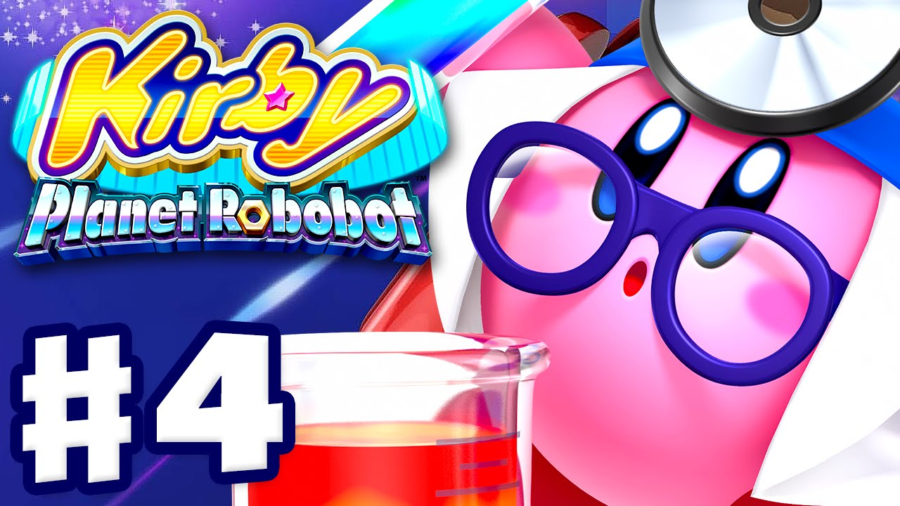 Kirby Planet Robobot - Gameplay Walkthrough Part 4 - Area 4: Gigabyte Grounds (Nintendo 3DS English)