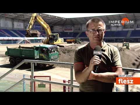 Flesz Gliwice / Murawa stadionu Piasta do wymiany