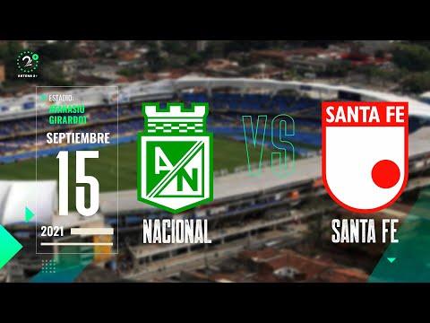 Nacional Vs. Santa Fe - Copa BetPlay EN VIVO