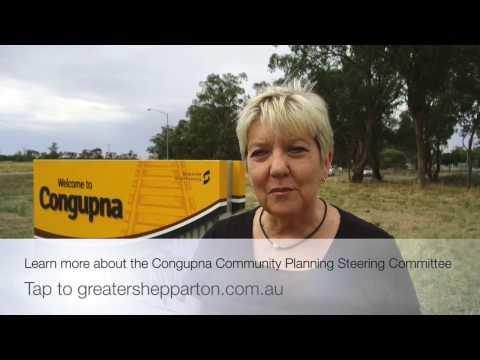 Congupna town entry sign - Greater Shepparton