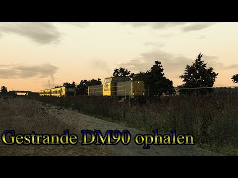 Gestrande DM90 ophalen  Train Simulator 2018