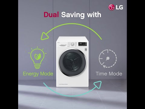 Save Time, Save Energy with LG Dual Inverter Dryer