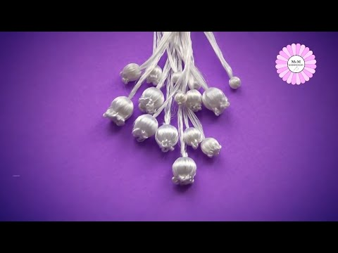 How to embroider lilies of the valley | 3D flowers embroidery