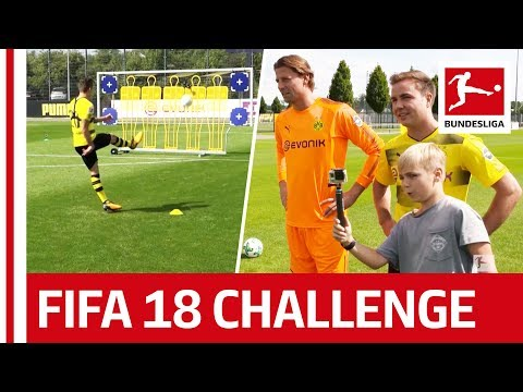 Götze, Philipp & BVB's Little Helper - EA Sports FIFA 18 Bundesliga Free Kick Challenge - Part 2