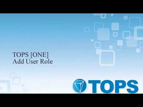 TOPS [ONE] Tutorial: Add Role