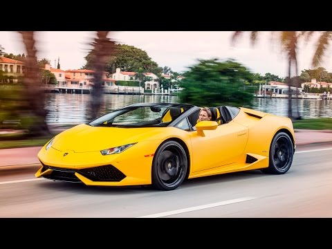 Lamborghini Huracan LP610-4 Spyder driven - cruising in Miami
