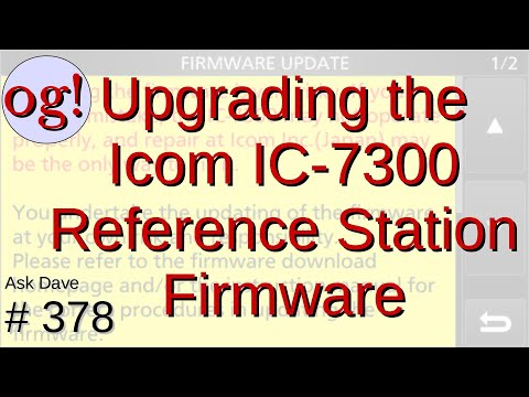 Updating the ICOM IC-7300 Reference Station Firmware (#378)