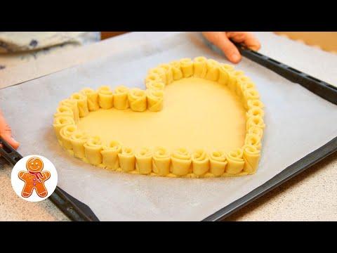 Пирог в Виде Сердца без Специальных Форм ✧ Пирог Валентинка