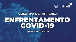 Ministério da Saúde conversa com jornalistas sobre Covid-19