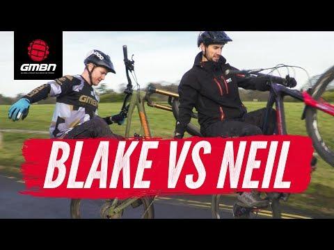 Blake Vs Neil   MTB Trail Skills Presenter Challenge