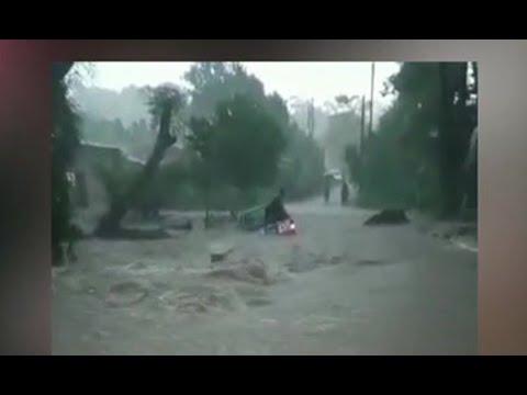 Lluvias de este jueves provocaron inundaciones en distintos puntos del país