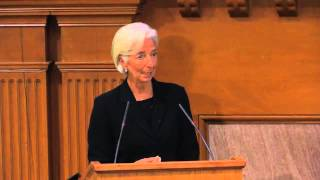 IMF Chief Christine Lagarde at Stanford's Freeman Spogli Institute for International Studies