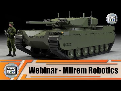 Type-X unmanned tracked IFV Infantry Fighting Vehicle unveiled by MILREM Robotics Estonia Webinar