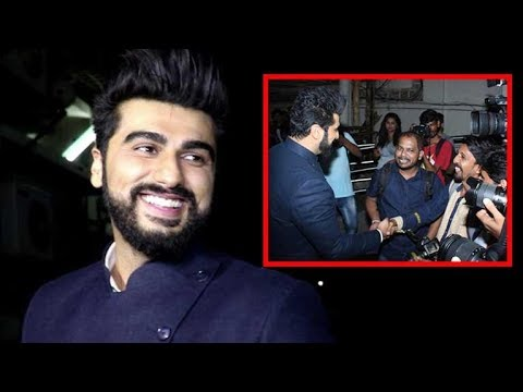 Arjun Kapoor Doing MASTI With The Media At Mubarakan Movie Screening
