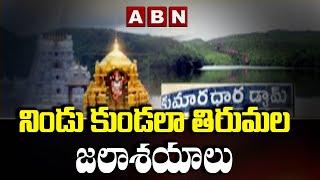 నిండి కుండల తిరుమల జలాశయాలు   Huge Water Storaged In Tirumala Reservoirs   ABN Telugu - ABNTELUGUTV