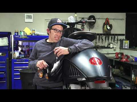How To Install European LED Turn Signals on a Vespa 946 (& Remove USA Pod Turn Signals)