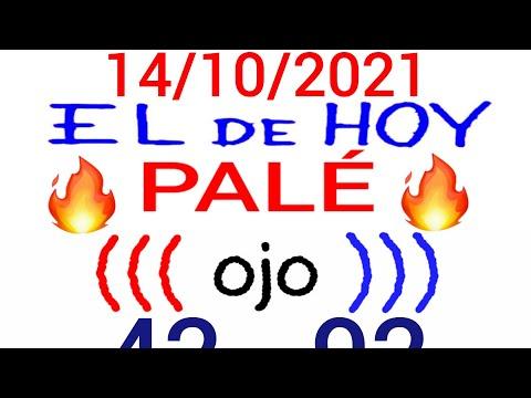 NÚMEROS PARA HOY 14/10/21 DE OCTUBRE PARA TODAS LAS LOTERÍAS..! Números reales 05 para hoy..!