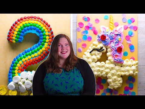 How to Make Number Cakes with Katie!   DIY Dessert Recipes and Decorations by So Yummy