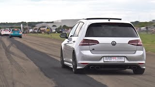 Supercars Accelerating LOUD! M3, M4, C63, AMG GT S, GOLF 7 R, GT-R