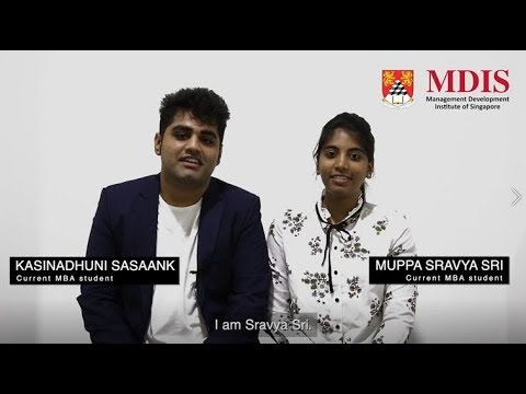 MDIS MBA Testimonial Video - Current Students