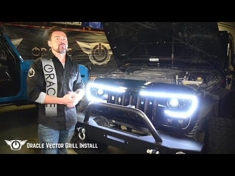 Oracle Vector Grill Install on Jeep Wrangler JK